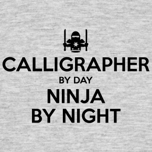 calligrapher day ninja by night - Men's T-Shirt