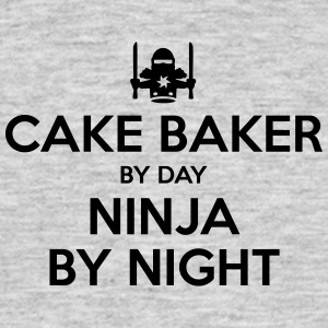 cake baker day ninja by night - Men's T-Shirt