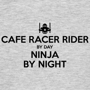 cafe racer rider day ninja by night - Men's T-Shirt