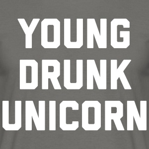 Young Drunk Unicorn Funny Quote T-shirts - Herre-T-shirt