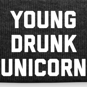 Young Drunk Unicorn Funny Quote Caps & Hats - Winter Hat