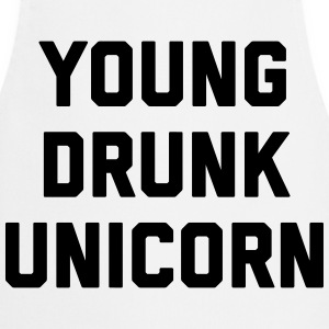 Young Drunk Unicorn Funny Quote  Aprons - Cooking Apron