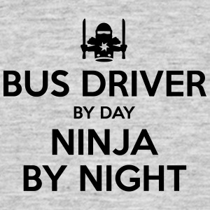 bus driver day ninja by night - Men's T-Shirt