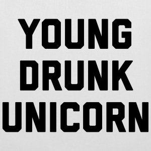 Young Drunk Unicorn Funny Quote Bags & Backpacks - Tote Bag