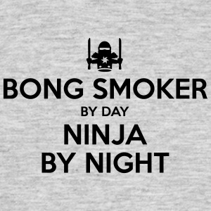 bong smoker day ninja by night - Men's T-Shirt