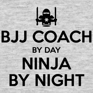 bjj coach day ninja by night - Men's T-Shirt