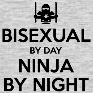 bisexual day ninja by night - Men's T-Shirt
