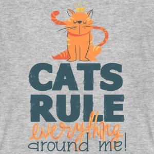 Cats rule-cats rules - cat, animal, funny T-Shirts - Men's Organic T-shirt