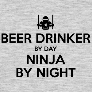 beer drinker day ninja by night - Men's T-Shirt