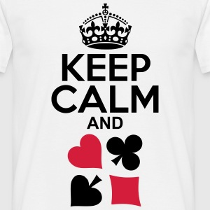 Keep Calm and Poker T-Shirts - Männer T-Shirt