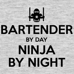 bartender day ninja by night - Men's T-Shirt