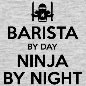 barista day ninja by night - Men's T-Shirt