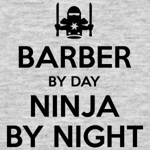 barber day ninja by night - Men's T-Shirt