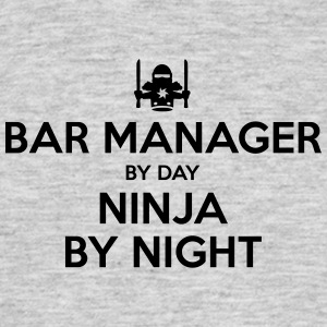 bar manager day ninja by night - Men's T-Shirt