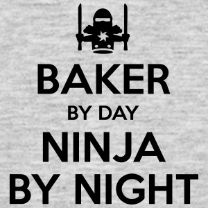 baker day ninja by night - Men's T-Shirt