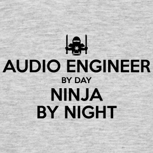 audio engineer day ninja by night - Men's T-Shirt