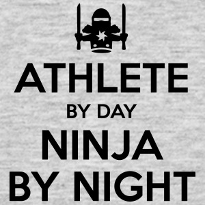 athlete day ninja by night - Men's T-Shirt