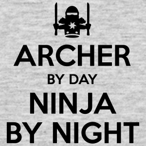 archer day ninja by night - Men's T-Shirt