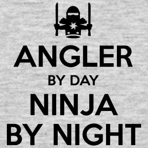 angler day ninja by night - Men's T-Shirt