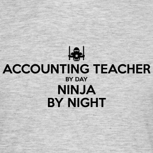 accounting teacher day ninja by night - Men's T-Shirt