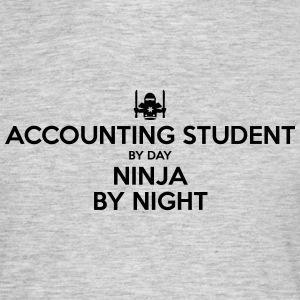 accounting student day ninja by night - Men's T-Shirt