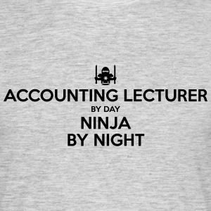 accounting lecturer day ninja by night - Men's T-Shirt