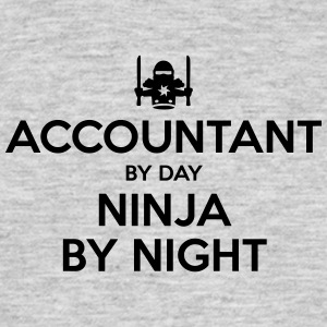 accountant day ninja by night - Men's T-Shirt