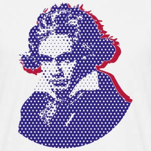 Beethoven in Dots - Blue T-Shirts - Männer T-Shirt