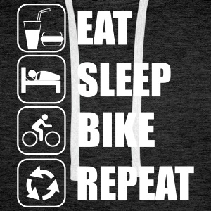 Eat,sleep,bike,repeat Bicicleta T-shirt - Sudadera con capucha premium para hombre