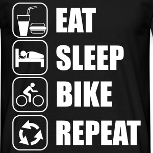 Eat,sleep,bike,repeat  - Koszulka męska