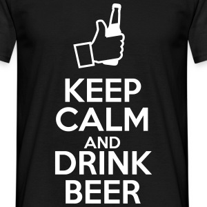 Keep calm and drink beer - Mannen T-shirt