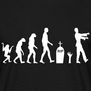 Zombie Evolution - Mannen T-shirt