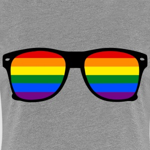 Rainbow Glasses  Regnbue Gay Pride - Premium T-skjorte for kvinner