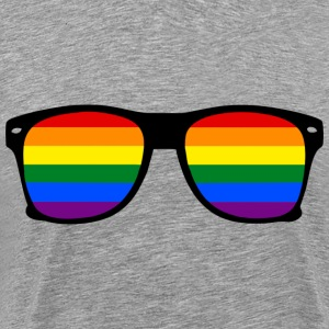 Rainbow Glasses  Regnbue Gay Pride - Premium T-skjorte for menn