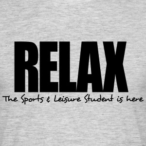 relax the sports  leisure student is her - Men's T-Shirt