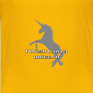 I Wish I am a Unicorn T-Shirts - Teenager Premium T-Shirt