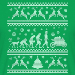 MERRY CHRISTMAS MOTORCYCLISTS! (UGLY SWEATER) T-Shirts - Men's T-Shirt