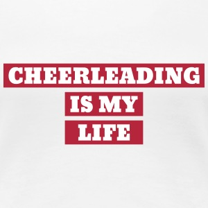 cheerleading cheerleader sport atlet atletisk T-shirts - Dame premium T-shirt