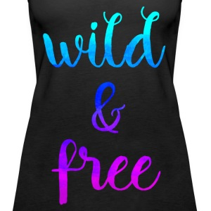 Wild & Free Top - Frauen Premium Tank Top
