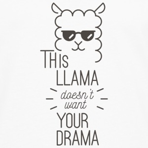Wortspiel Lama- This lama doesnt want your drama Langarmshirts - Männer Premium Langarmshirt