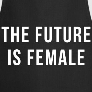 Future Is Female Quote  Aprons - Cooking Apron