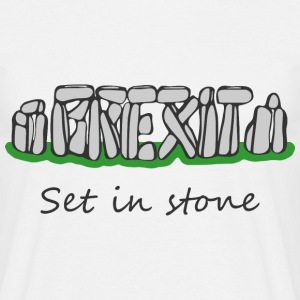Brexit Set In Stone - Men's T-Shirt