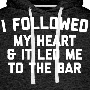 Led Me To Bar Funny Quote Sweaters - Mannen Premium hoodie