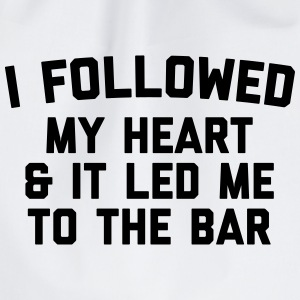Led Me To Bar Funny Quote Bolsas y mochilas - Mochila saco