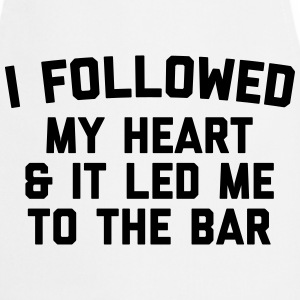 Led Me To Bar Funny Quote  Aprons - Cooking Apron