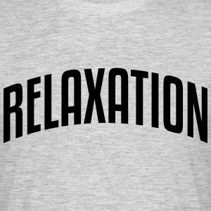 relaxation stylish arched text logo - Men's T-Shirt
