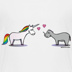 Unicorn & Rhino in love - licorne amoureuse Tee shirts - T-shirt Premium Enfant