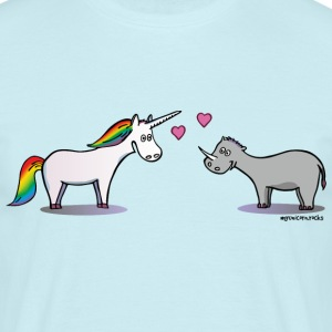 Unicorn & Rhino in love T-Shirts - Men's T-Shirt