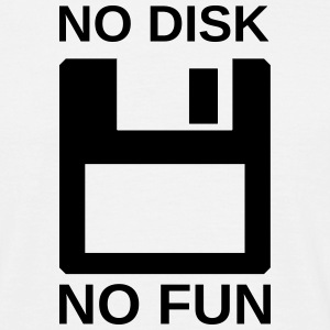 no disk no fun - Männer T-Shirt