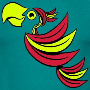 Parrot bird art design T-shirts - Mannen T-shirt